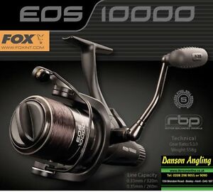 Fox EOS 10000 Free Spool Reel *New 2014* Fox carp fishing reels