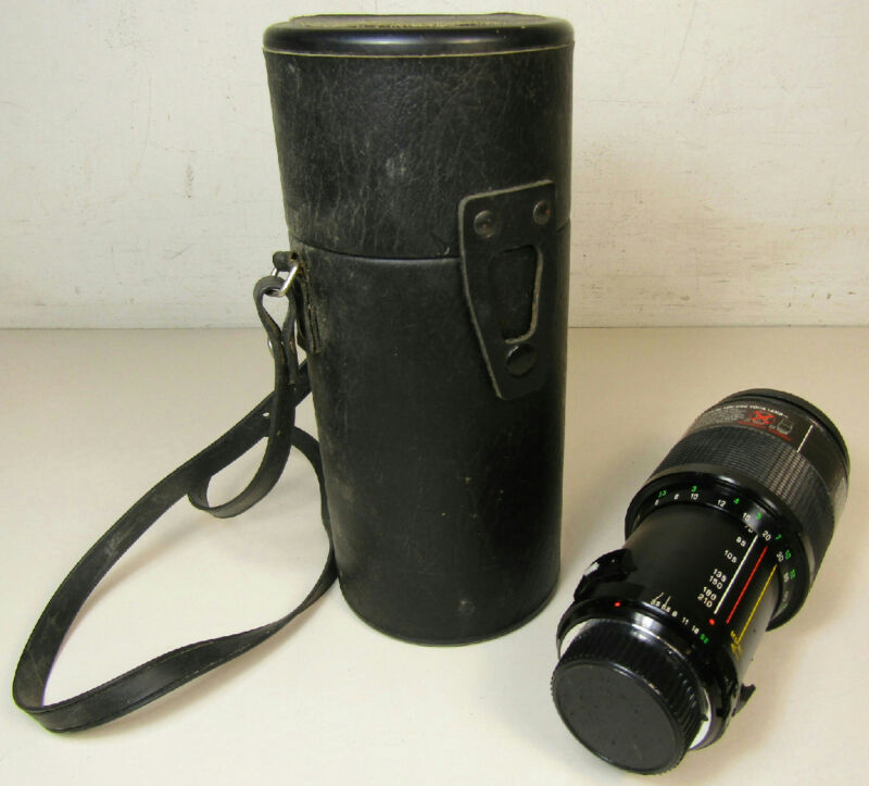 Vivitar Series 1 VMC 70-210mm Macro Focus Auto Zoom Lens With Case
