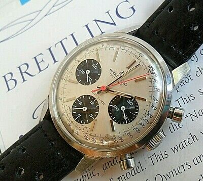 Panda Dial S/S Vintage 1970's Men's Breitling Top-Time Chronograph Swiss Watch