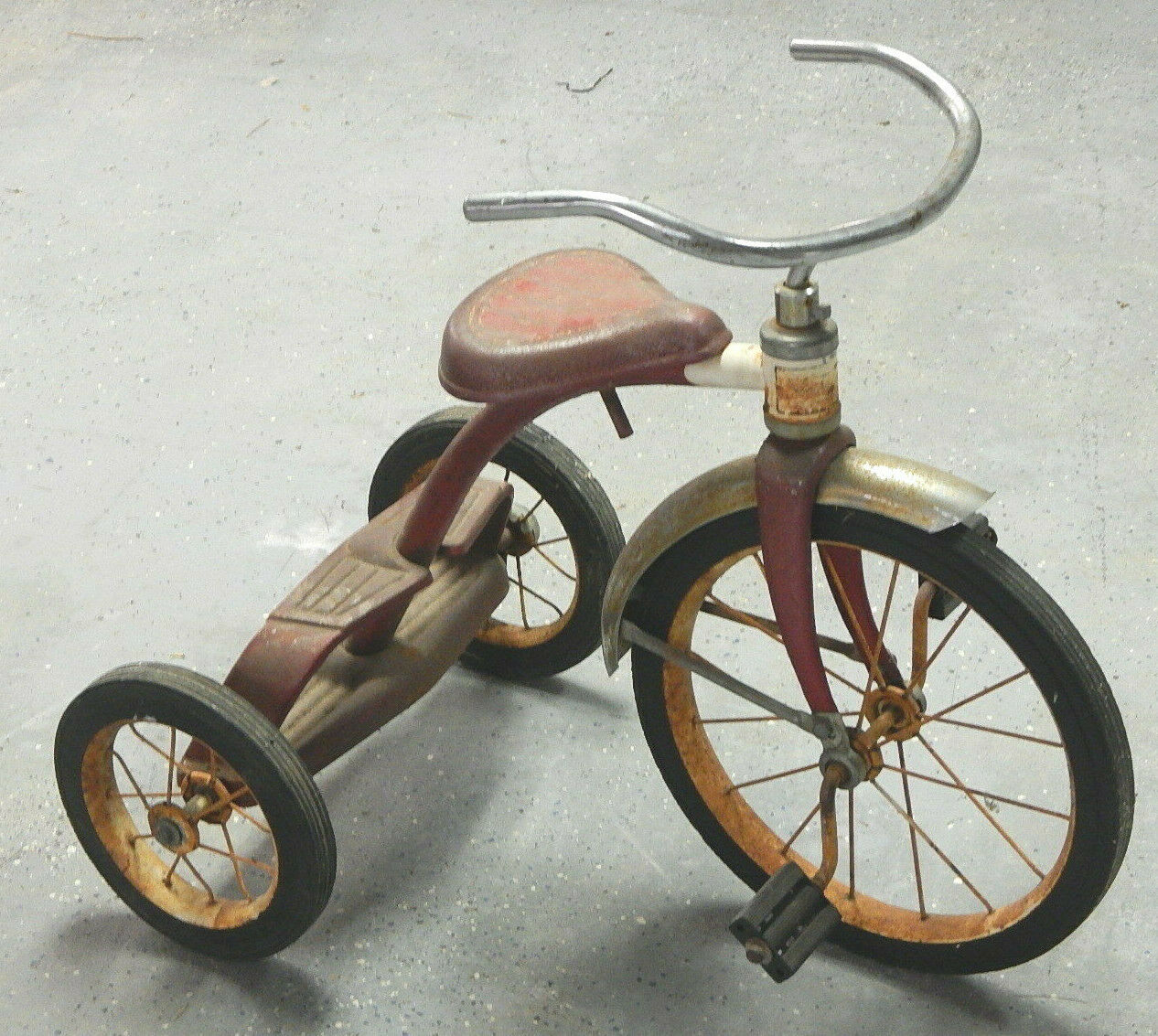 Antique trike duel deck (Radio Flyer?) tricycle (Used - 300 USD)