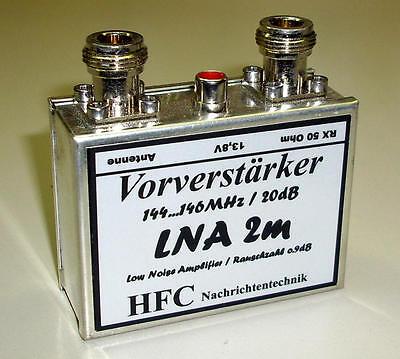LNA-2m Vorverstärker / 20 dB / 144 - 146 MHz / Weißblechgehäuse