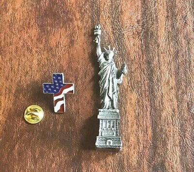 Monument Statue Of Liberty (Decor New York Monument Statue of Liberty Figurine Paperweight Office & Pin)