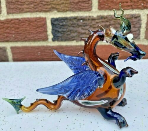 "Murano DRAGON Blown Art Glass Figurine ~ 6.5"""