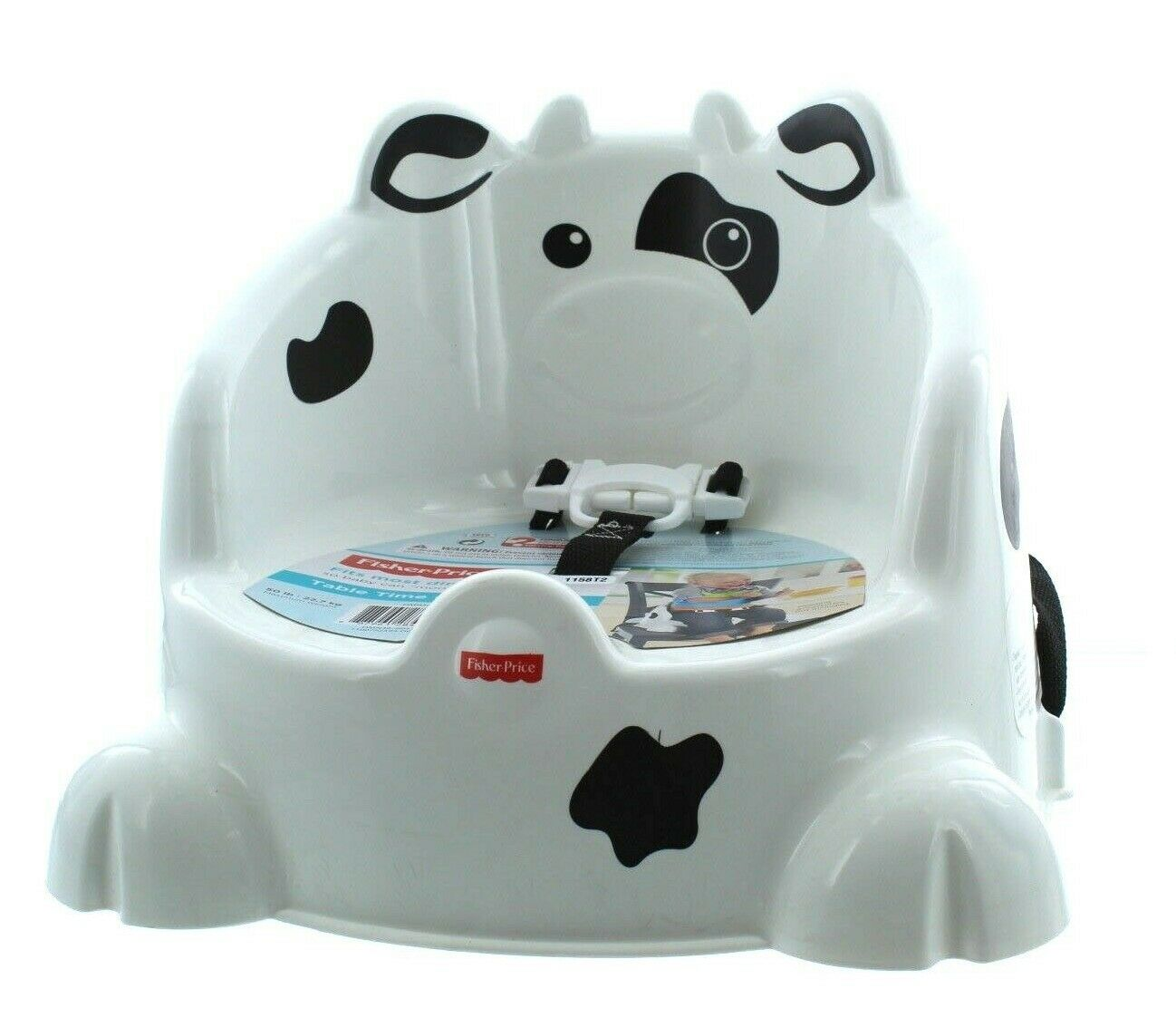 Booster Infant Baby Toddler Table Time Cow Safe Chair Feedin