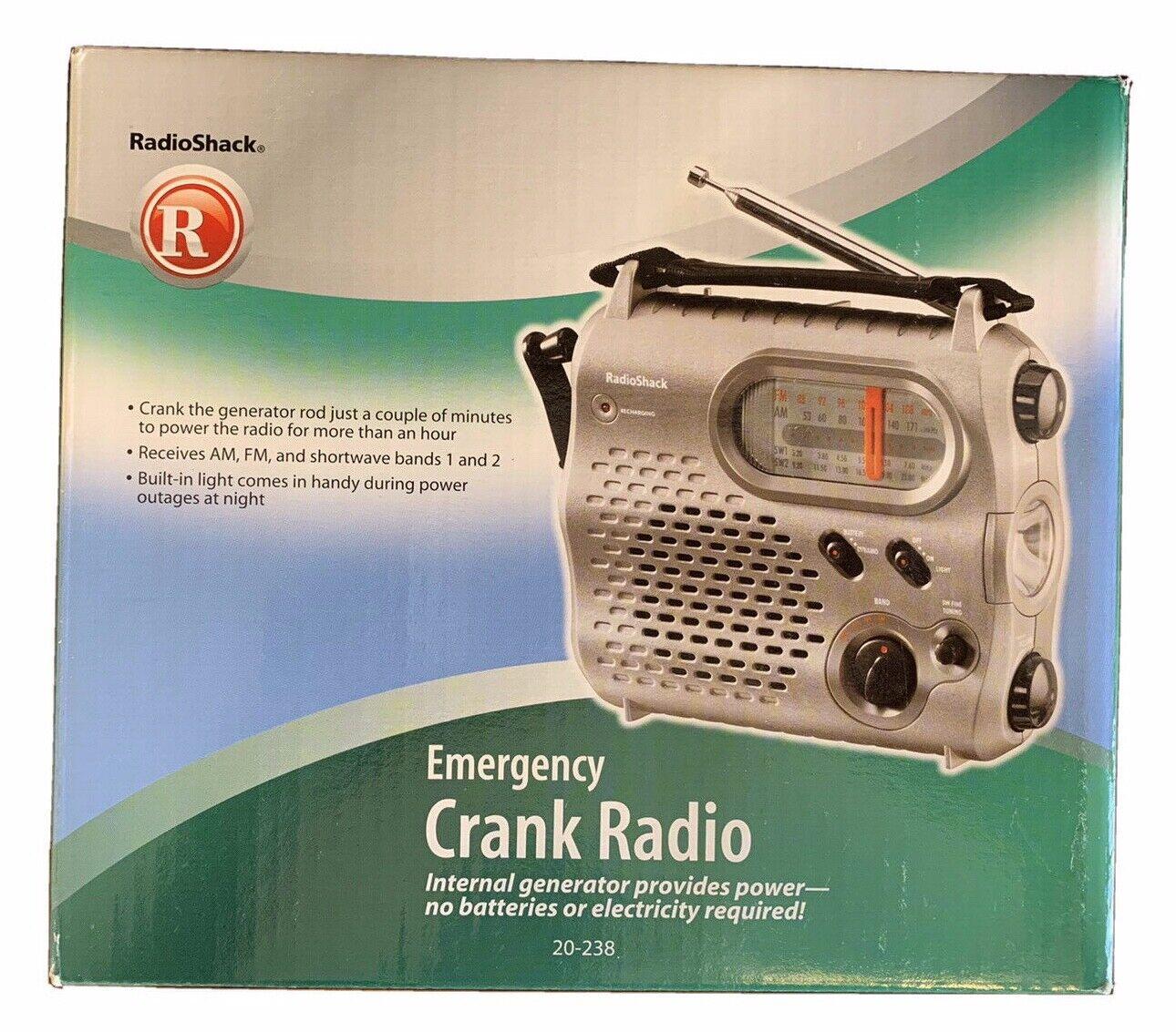 RadioShack Emergency Crank Radio AM/FM Shortwave Internal Ge