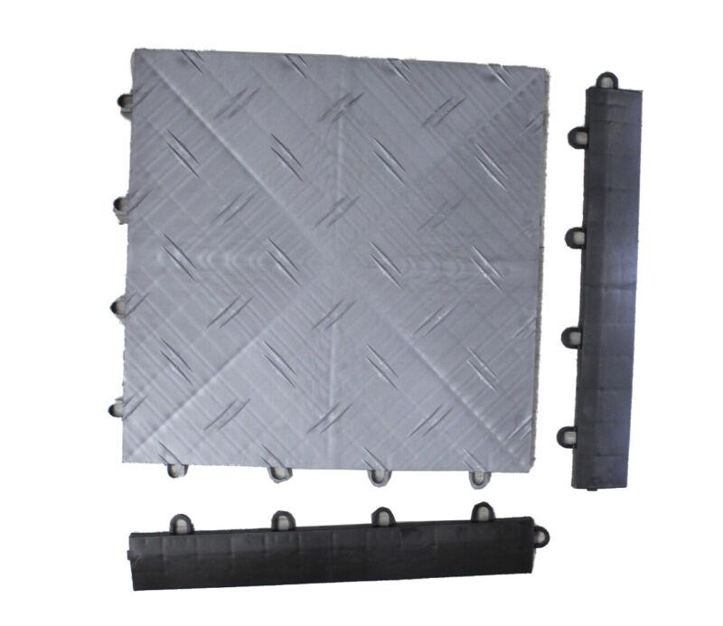 MotoFloor Modular Garage Flooring Completer Kit Charcoal