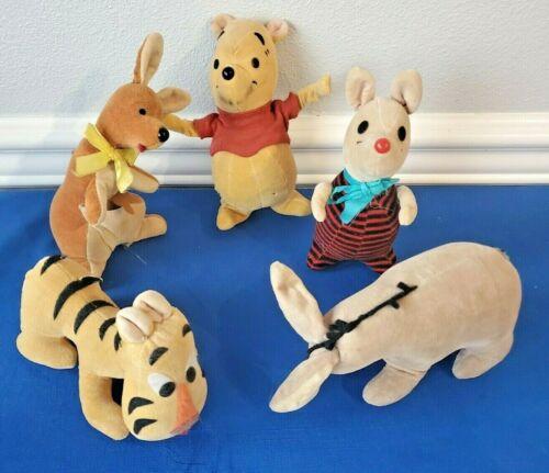 1964 Winnie The Pooh Walt Disney Sawdust Plush Eeyore Tigger Kanga Rabbit Piglet