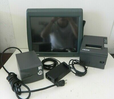 Micros Workstation 5a System Unit 400814-101 W Epson Printer Tm-t88iv M129h