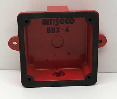 Amseco Bbx-4 Weatherproof Gasketed Back Box - Red