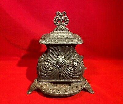RARE CA 1857 CAST IRON PARLOR STOVE SALESMAN SAMPLE THE PET 1857 ADAMS PECKOVER