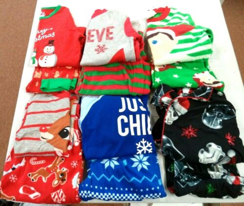 SZ MED & 10/12 6 XMAS PJ PAJAMA SETS STAR WARS RUDOLPH EXCELLENT PRE-OWNED! #17