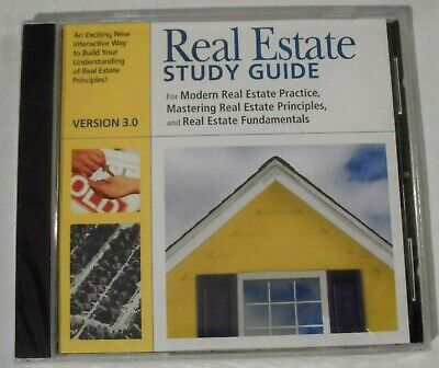 NEW SEALED - Real Estate Study Guide Version 3.0 (PC CD-ROM, Dearborn, 2002) Cd Rom Study Guide