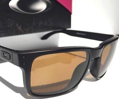 NEW! Oakley HOLBROOK Matte BLACK w POLARIZED Bronze GOLF Lens Sunglass