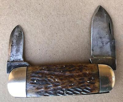 Vintage Rare 1890s Cattaraugus No.22929 Elephant Toe Nail Double End Jack Knife