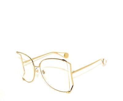 Gucci GG0252S 0252S 001 Gold Transparent Pearl Sunglasses Sale