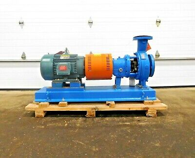 Mo-3628 New Goulds 3196 Centrifugal Pump W 15 Hp Motor. 570 Gpm. 1800 Rpm.