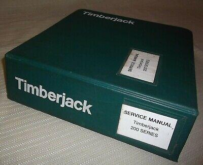 John Deere Timberjack 200 Series Skidder Technical Service Repair Manual Book