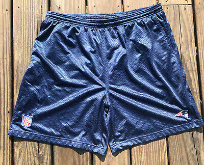 NFL Reebok New England Patriots Lined Mesh Performance Shorts Navy Size 2XL