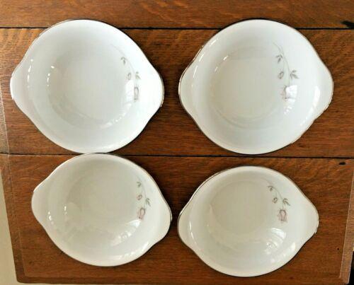 Noritake Japan Pasadena Pattern Tab Handled Bowls (4)