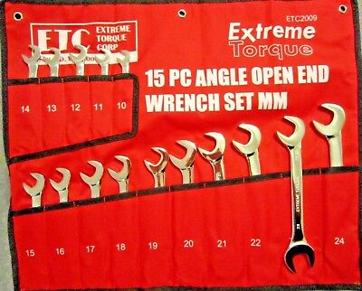 Metric Open End 4-Way Angle Wrench Set 10 to 24 mm ETC2009 Extreme Torque ETC