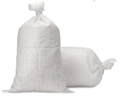 UpNorth Sand Bags - Empty White Woven Polypropylene Sandbags w/ Ties, w/ UV