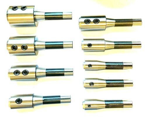 9PC R8 END MILL HOLDER SET 3/16,3/8,1/2,5/8.3/4,7/8,1,1-1/4,1-1/2 FOR BRIDGEPORT
