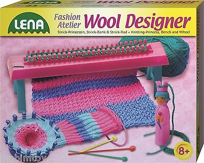 Wool Designer von Lena mit Strickbank, Strickrad und Strickliesel 42003 NEU