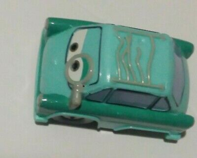 "DISNEY PIXAR Cars Plastic Mini Racers Doc Hudson Green Loose 3"" Long"