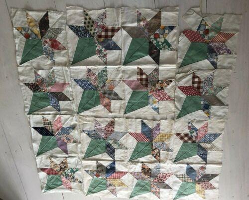 1930's Variety Ice Cream Cone Pattern/Nosegay Quilt Blocks/Pieces