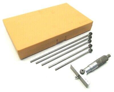 Mitutoyo 0-6 Interchangeable Rod Depth Micrometer - 202-902