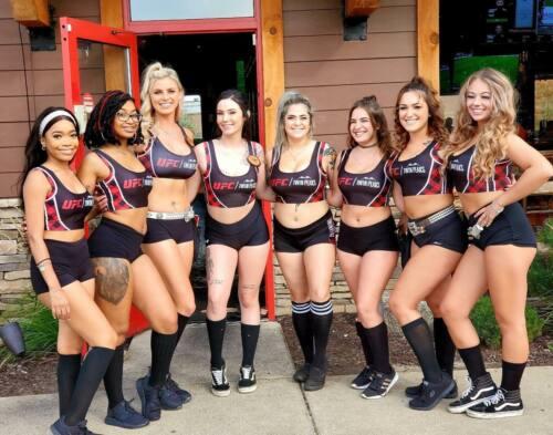 Twin Peaks UFC Waitressville Uniforms XS Top Active Plaid Waitress Hooters