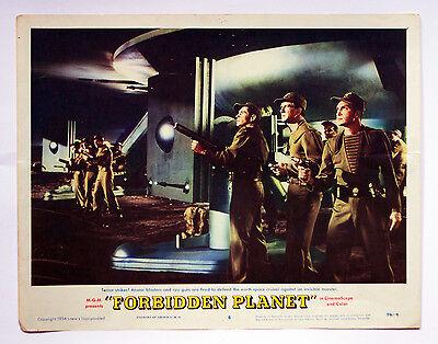 Forbidden Planet 1956 Lobby Card #6 Leslie Nielsen & Walter Pidgeon C7