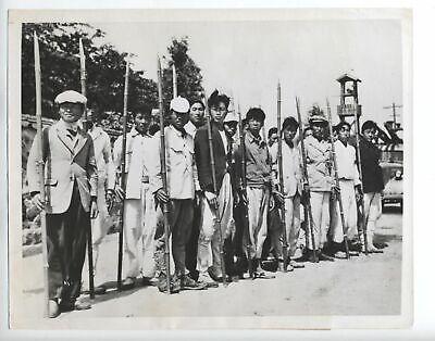1947 ORIGINAL GWANGJU, KOREA PHOTO, DEFENDING AGAINST TERRORISTS VINTAGE