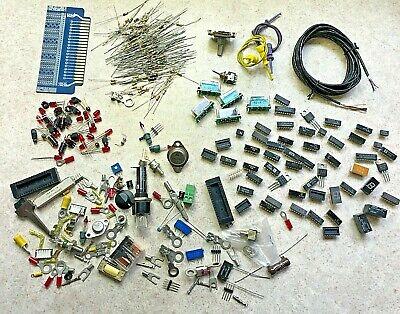 5 Lbs Mixed Lot Grab Bag Electronic Components Caps Res Relay Ics Leds Terms Etc