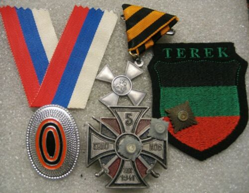 /Russian Cossack in German Army badges & patches lot of 5