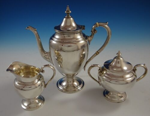 Puritan By Gorham Sterling Silver Coffee Set 3pc  (#2487)