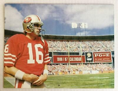 CALENDAR 1986/87 PG&E San Francisco 49ers Joe Montana Dwight Clark Jerry -