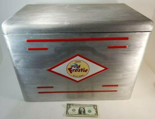 Vintage Frostie Root Beer Aluminum Metal Cooler 1960