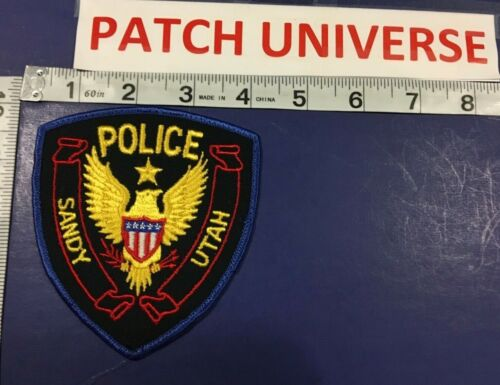 SANDY UTAH  POLICE  SHOULDER PATCH  D009