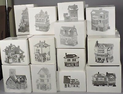 Vintage Dept 56 Dickens Village Series: 45 Buildings, 63 Figure/Acc Sets, + More