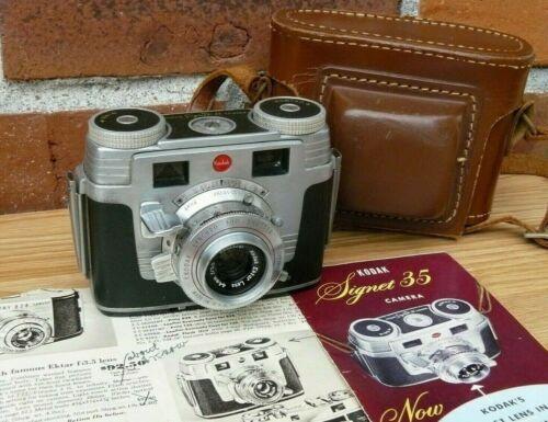 Vintage Kodak Signet 35 Camera Ektar Lens 44mm f3.5 300 Shutter