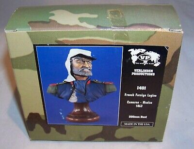 VERLINDEN 200MM 1/9 FRENCH FOREIGN LEGION BUST CAMERON MEXICO 1863 NIB 1401