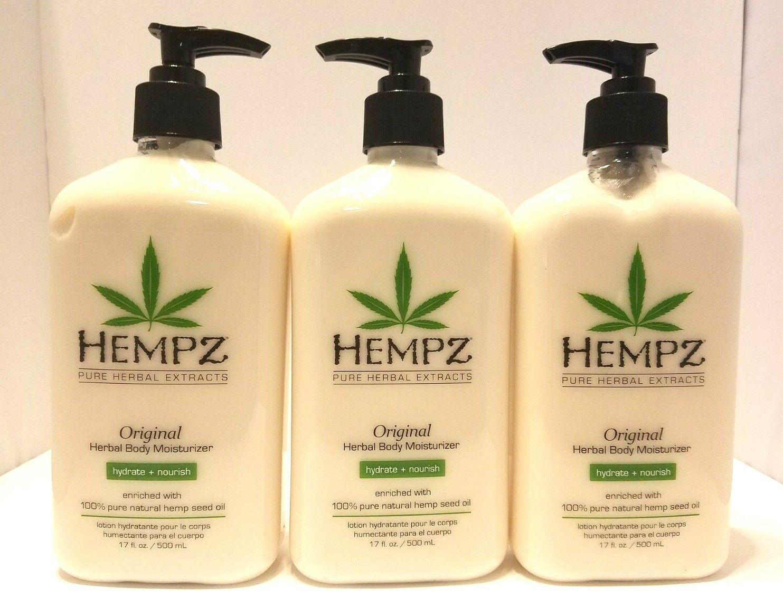 Hempz Original Herbal Body Moisturizer 17 oz. Pack of 3 Loti