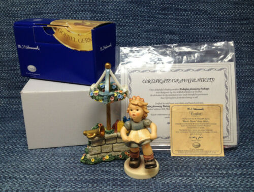 Goebel Hummel Musik Please 1702 with the Volkfest Display Mint in Boxes with COA