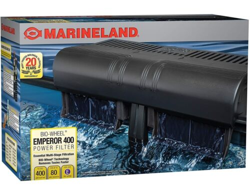 Marineland Emperor Bio-Wheel Power Filter, Multi-Stage Filtration, 400 GPH