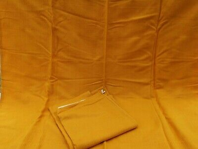 "Vintage CURTAINS  GOLD Plain Unlined 45"" wide X 48"" long One Pair"