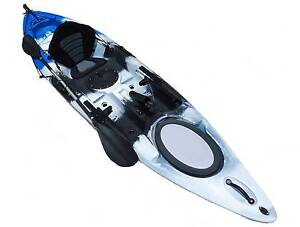NEW 12FT SINGLE SIT ON OCEAN FISHING KAYAK CANOE SURF SKI PACKAGE St Marys Penrith Area Preview