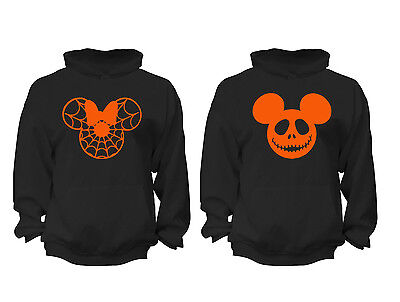 2 FOR 1 SALE: Halloween Costume Couples Matching soft Black Unisex Hoodie S-6X