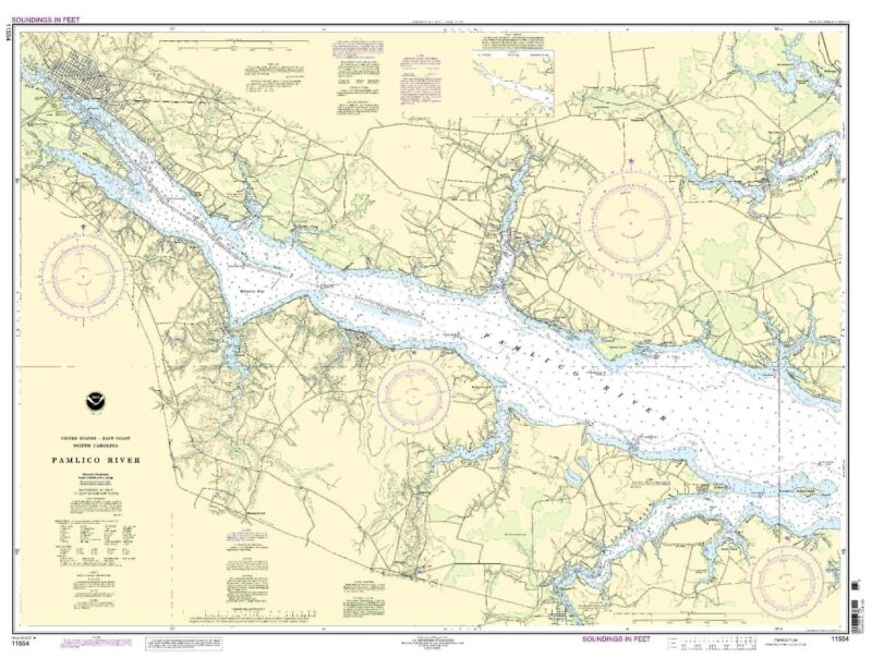 NOAA Chart Pamlico River 17th Edition 11554