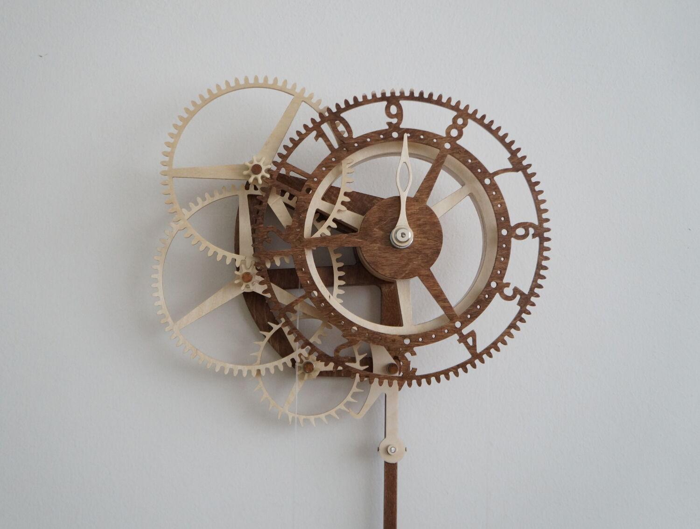 Orologio a pendolo in legno scatola in kit di montaggio for Bricolage fai da te